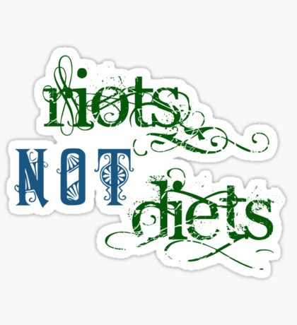 Riots Not Diets (Green and Blue) Sticker