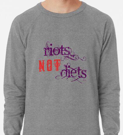 Riots Not Diets (Purple and Red) Lightweight Sweatshirt