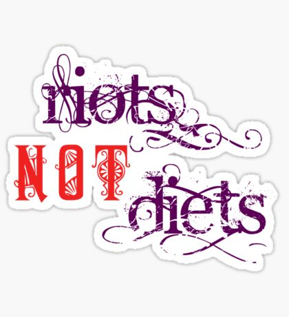 Riots Not Diets (Purple and Red) Sticker