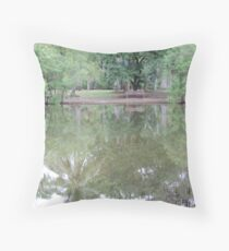 landscape pond Throw Pillow