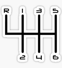 6-Speed Manual Transmission Gear Stick H-Pattern Sticker