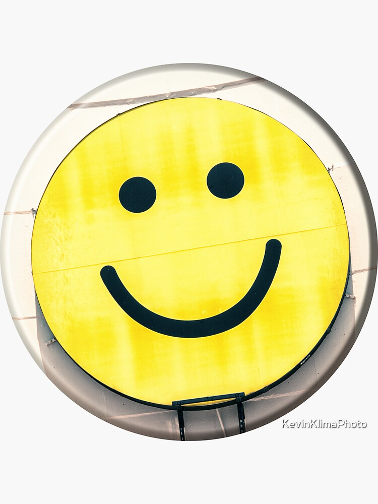 Yellow Smiley Face Sign by KevinKlimaPhoto