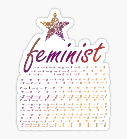 Feminist Star Sticker