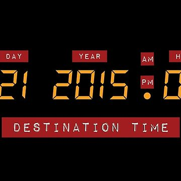 Back to the Future Oct 21, 2015 4:29 DeLorean Numbers by humaniteeshirts