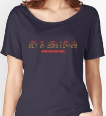 Back to the Future Oct 21, 2015 4:29 DeLorean Numbers Women's Relaxed Fit T-Shirt