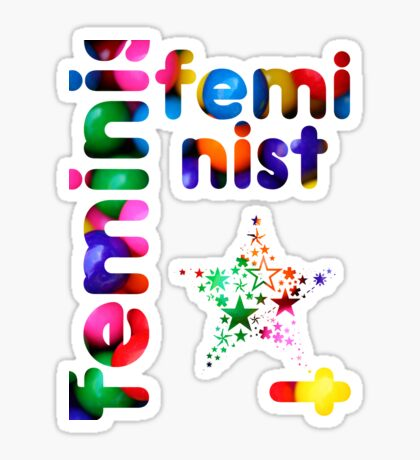 Jelly Bean Feminist Sticker