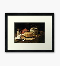 Still-Life with Yellow Straw Hat Framed Print