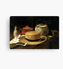 Still-Life with Yellow Straw Hat Canvas Print