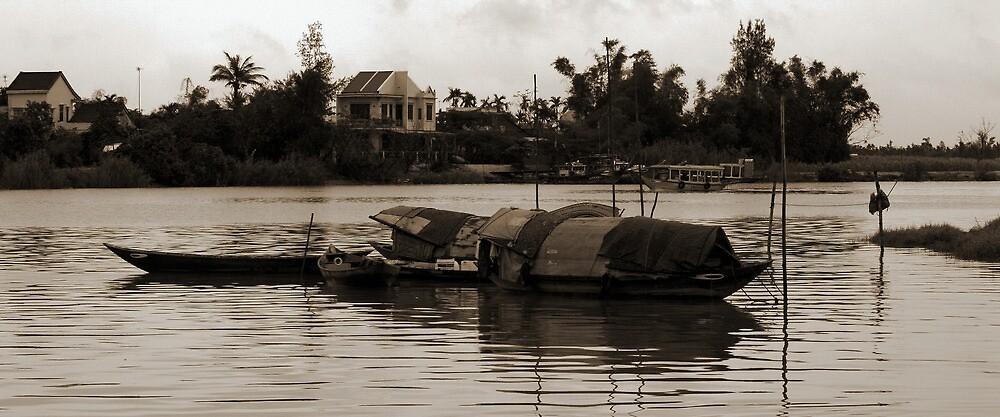 Hoi An Canal - Sepia by Jordan Miscamble