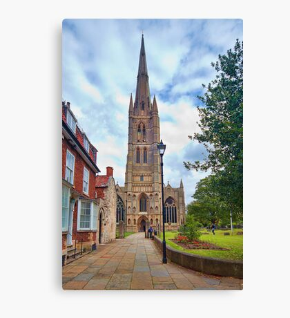 St Wulfram's Church, Grantham. Canvas Print