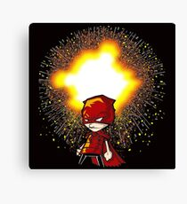 Calvin And Hobbes Superhero Canvas Print
