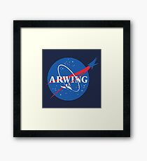 Arwing Framed Print