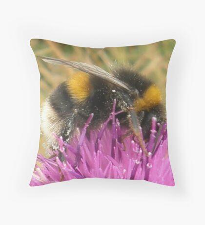 A Scottish Bumble Bee Throw Pillow