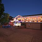 Christmas Lights, Duffy ACT by buildings