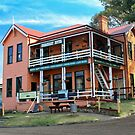 The Dromedary Hotel, Central Tilba NSW by buildings