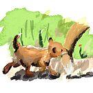 Baby Fox Tag Along by BunnyMaelstrom