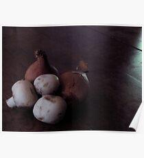 French Shallots and Mushrooms Poster