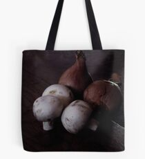 French Shallots and Mushrooms in Morning Light Tote Bag