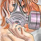 Gas Mask Redhead by Epicsnakehips