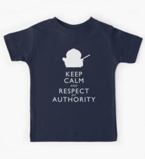 Keep Calm and Respect My Authority Kids Tee