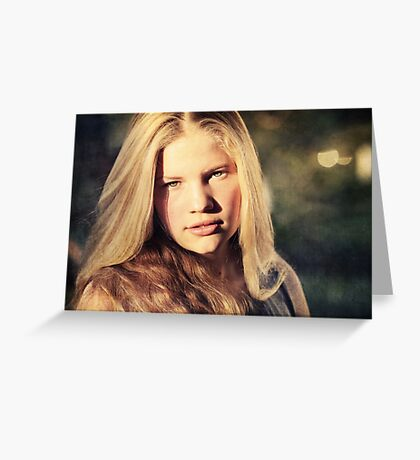 And she has a heart of gold, too. Greeting Card