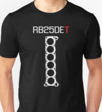 RB25DET Engine Head Gasket design for a dark shirt T-Shirt