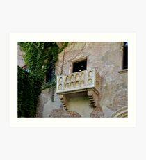 Balcone di Romeo e Giulietta Art Print