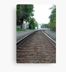Train Tracks - Waukesha, WI Metal Print