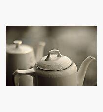 Tea potts Photographic Print