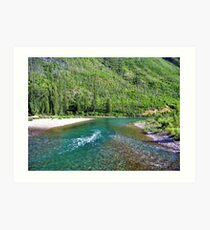 Fishing Paradise (Glacier National Park, Montana, USA) Art Print