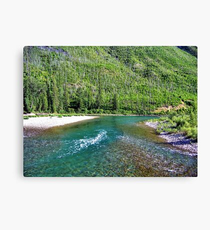 Fishing Paradise (Glacier National Park, Montana, USA) Canvas Print