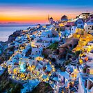 Santorini Sunset by Inge Johnsson