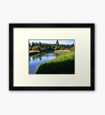 Whitefish River (Whitefish, Montana, USA) Framed Print