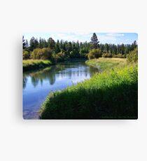 Whitefish River (Whitefish, Montana, USA) Canvas Print