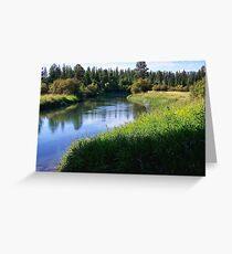 Whitefish River (Whitefish, Montana, USA) Greeting Card
