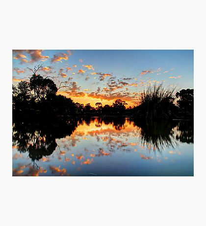 Eyenesbury Lake at Sunset Photographic Print
