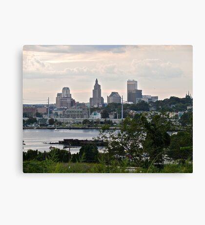 Dusk Descending Over Providence - Rhode Island Canvas Print