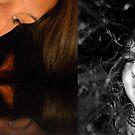 Self-Portrait Diptych  by Allison  Flores