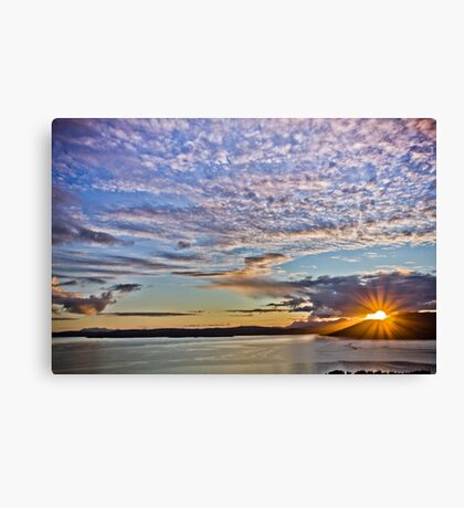 Sunset, Sound of Sleat Canvas Print