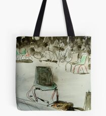 seven chairs and a stump Tote Bag