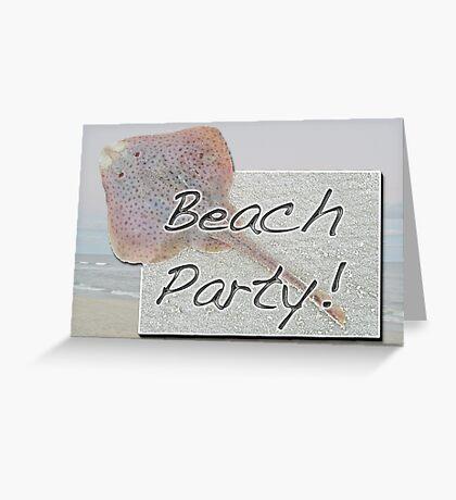 Beach Party Invitation - Little Skate Greeting Card