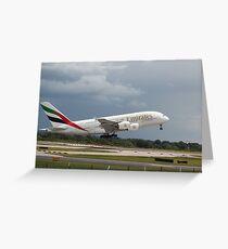 Emirates A380 Carte de vœux