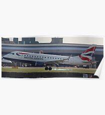 G-LCYI Emb170 British Airways Poster