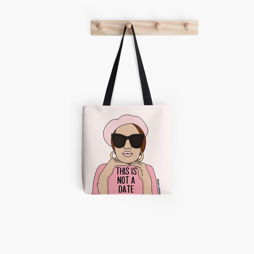 Not a date by Sasa Elebea Tote Bag