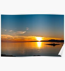 Sunset over the point of Sleat on the Isle of Skye Poster
