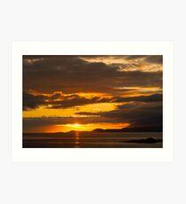 Sunset, Point of Sleat, Isle of Skye, Inner Hebrides, Scotland, Art Print