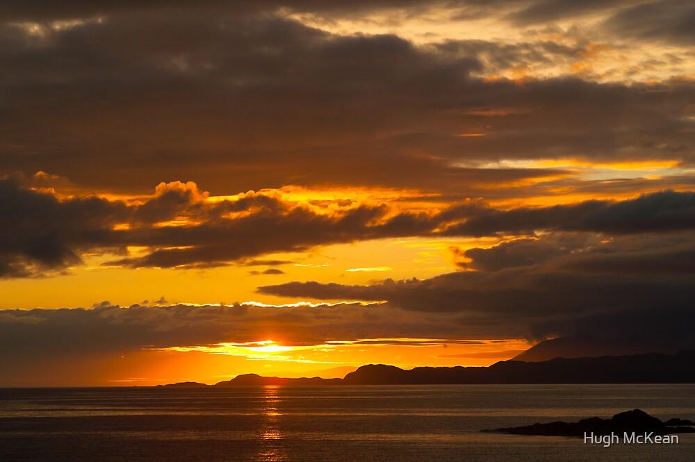 Sunset, Point of Sleat, Isle of Skye, Inner Hebrides, Scotland, by Hugh McKean