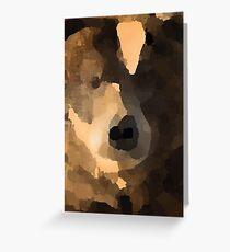 brown bear abstract Greeting Card