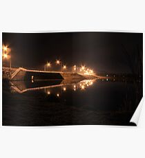 Lake Tuggeranong dam (by night) Poster