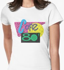 Back To The Cafe 80's Women's Fitted T-Shirt